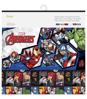Cricut 12 Pack 12''x12'' Marvel Avengers Assemble Deluxe Papers
