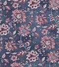 Vintage Cotton Fabric 43\u0027\u0027-Jacobean on Navy