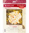 RIOLIS 13.75\u0027\u0027x13.75\u0027\u0027 Cushion Counted Cross Stitch Kit-White Peony