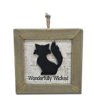 Maker's Halloween Wall Decor-Cat & Wonderfully Wicked