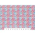 Modern Premium Cotton Print Fabric 43\u0027\u0027-Blue Textured Medallions
