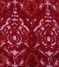 Heavy Tapestry Sequin Fabric 52\u0027\u0027-Tango Red