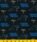 Carolina Panthers Cotton Fabric 58\u0027\u0027-Logo