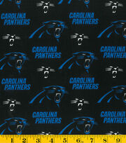 Carolina Panthers Cotton Fabric 58''-Logo, , hi-res