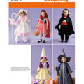 Simplicity Pattern 2571A Toddler\u0027s Costumes-Size 1/2 1 2 3