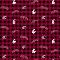 Washington State Cougars Flannel Fabric-Checks