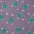 Premium Cotton Print Fabric -Metallic & Circle Waves on Purple