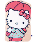 Vervaco Cushion Cross Stitch Kit-Hello Kitty Under Umbrella