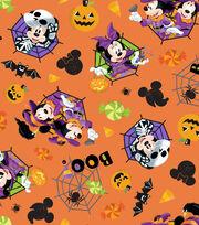 Disney Mickey & Minnie Halloween Cotton Fabric-Feelin' Spooky, , hi-res