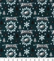 Christmas Philadelphia Eagles Flannel Fabric-Holiday, , hi-res