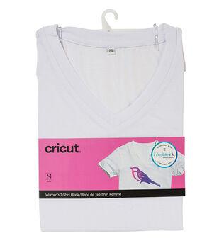 Cricut Infusible Ink Women's V-Neck T-Shirt-White
