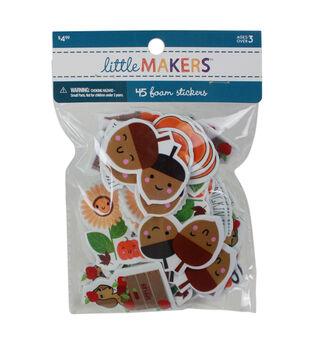 Little Makers Fall 45 pk Foam Stickers-Acorns & Friends