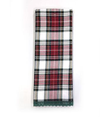 Maker's Holiday Christmas 16''x28'' Kitchen Towel-Plaid