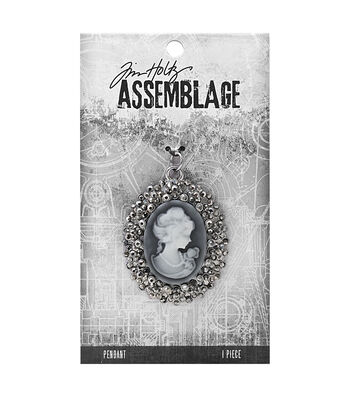 Tim Holtz Assemblage Crystal Cameo Pendant