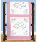 Stamped White Quilt Blocks 18\u0022X18\u0022 6 Pack-Infinity Love