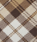 Anti-Pill Fleece Fabric 57\u0022-Brown Plaid Woodlands