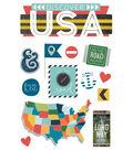 Paper House 4.5\u0027\u0027x8.5\u0027\u0027 3D Stickers-Discover USA