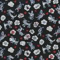 Novelty Cotton Fabric-Black & White Dog Thoughts