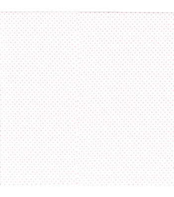 Snuggle Flannel Fabric 42''-Pink Dots on White
