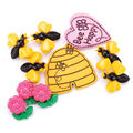 Favorite Findings Buttons-Bee Happy 9/pkg
