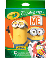 Crayola Despicable Me Mini Coloring Pages with Washable Markers, , hi-res
