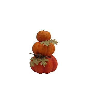 Simply Autumn 3-Stacked Pumpkins-Orange