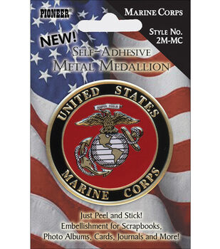 Pioneer Military Medallion Embellishments-Marine Corp
