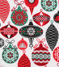 Christmas Cotton Fabric-Intricate Ornaments