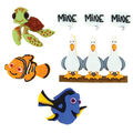 Dress It Up Licensed Embellishments- Disney Finding Nemo