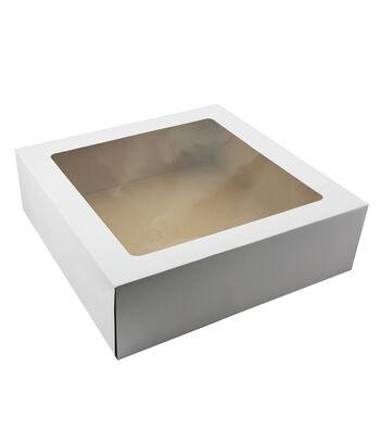 Cakebox Corrugate Window 16.25x16.25x5 2Ct