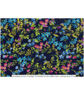 Keepsake Calico Cotton Fabric-Small Floral On Navy