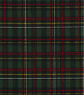 Christmas Cotton Fabric-Glitter Red & Green Holiday Plaid