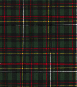christmas cotton fabric 44 glitter red green holiday plaid - Christmas Plaid Fabric