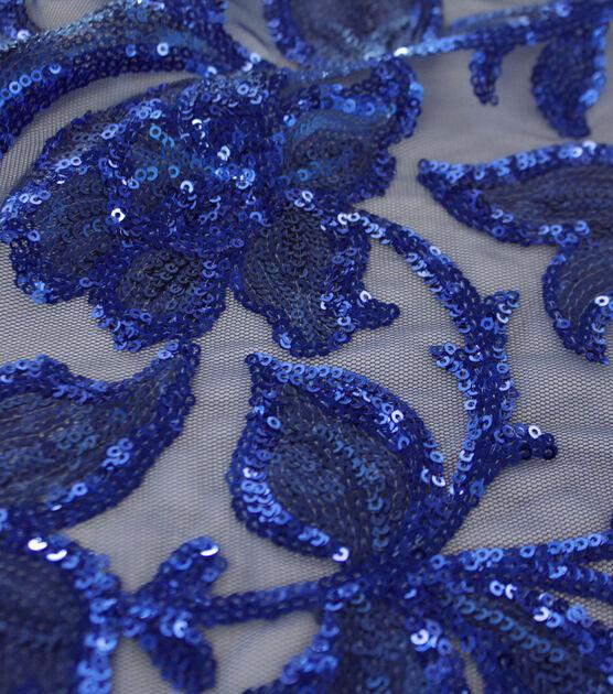 Casa Dahlia Sequin Embroidered Fabric Elegant Navy Blue, , hi-res, image 4