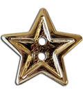 Blumenthal Lansing-Slimline Buttons-Bright Gold Star 2-Hole 7/8\u0022 3/Card
