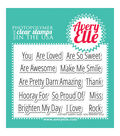 Avery Elle Clear Stamp Set 4\u0022X3\u0022-Simply Said