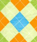 Snuggle Flannel Fabric -Baby Argyle