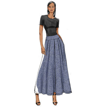 Vogue Patterns Misses Skirt-V9090