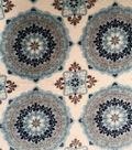 Ultra Fluffy Fleece Fabric 58\u0022-Medallion Blues