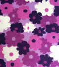 Snuggle Flannel Fabric 42\u0022-Regal Orchid Bunched Flowers