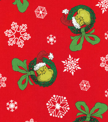 Christmas Cotton Fabric-Tossed Grinch