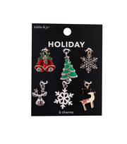 hildie & jo Christmas 6 pk Holiday Charms-Multi, , hi-res