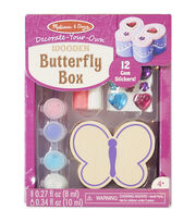 Melissa & Doug Decorate-Your-Own Wooden Butterfly Box Craft Kit, , hi-res