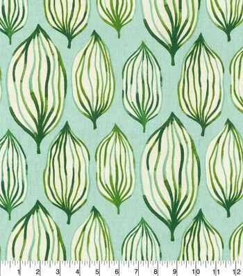 "Waverly Upholstery Fabric 54""-Verte Tropical Leaf"