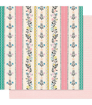 """Maggie Holmes Willow Lane Double-Sided Cardstock 12""""X12""""-Bright Days"""