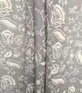 Homestead Eyelash 3D Woven Cotton Fabric-Light Gray White