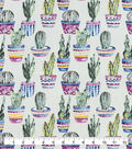 Snuggle Flannel Fabric-Potted Cacti