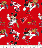 St. Louis Cardinals Cotton Fabric-Mickey, , hi-res