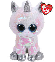 Ty Inc. Flippables Regular Sequin Diamond Unicorn-White, , hi-res