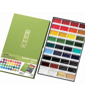 Kuretake Gansai Tambi 36 Water Color Set-Assorted Colors